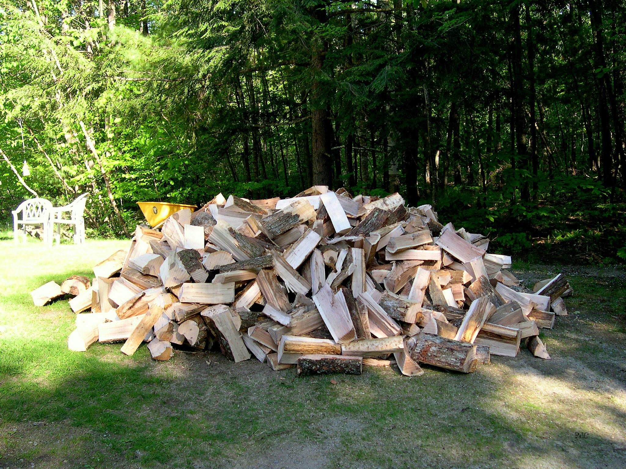 wood pile-cut wood-wood delivery-firewood - New England's ...