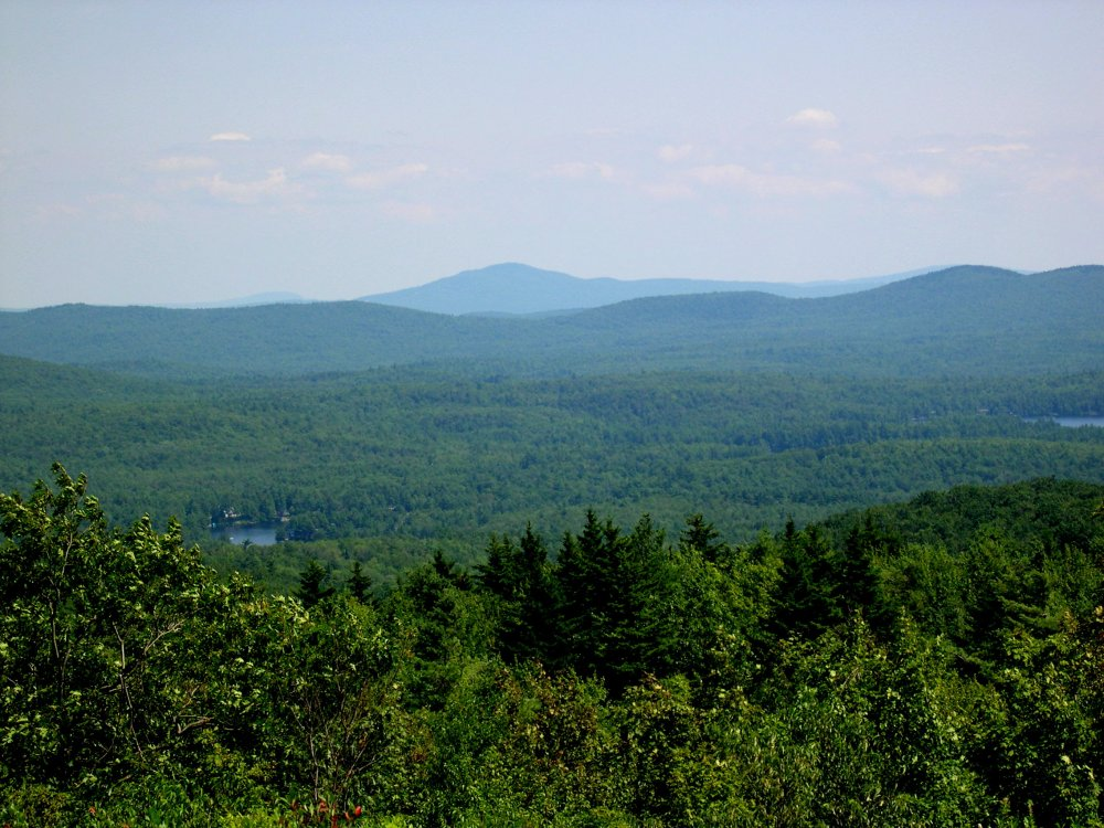 View from the top of Pitcher Mountain