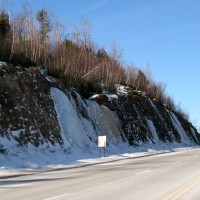 Ice Waterfalls Roadside