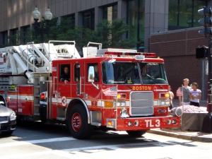 Boston fire truck