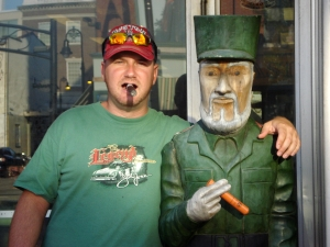 statue at the cigar store