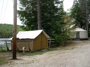 tent city at the girl scout camp