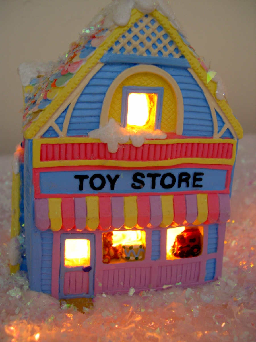Christmas Toy Store : Our diy christmas village new england s narrow road