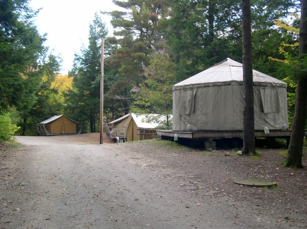 tent city at camp chenoa