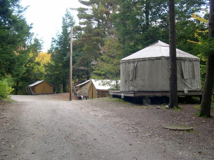 tent city at camp chenoa