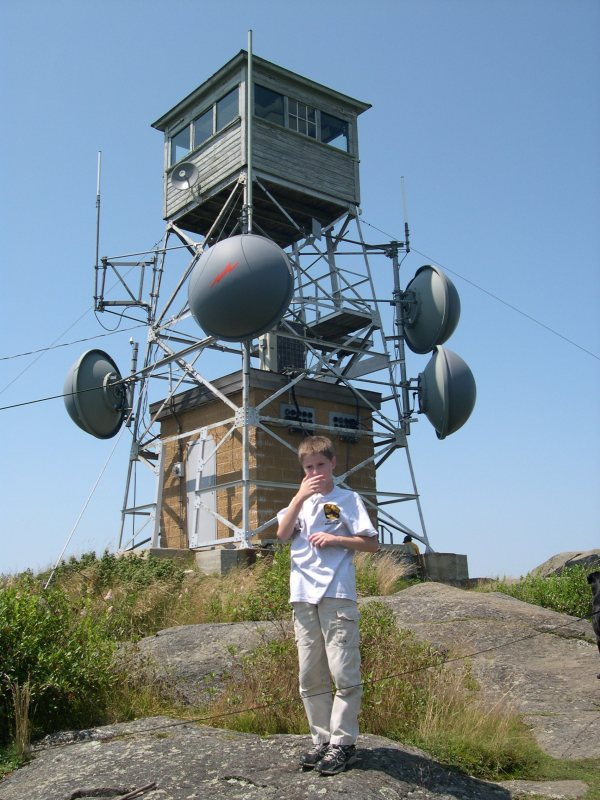 fire tower on Pitcher Mountain