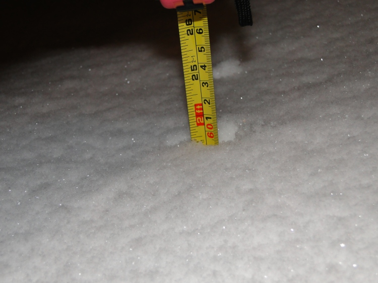 snowfall amount of two feet