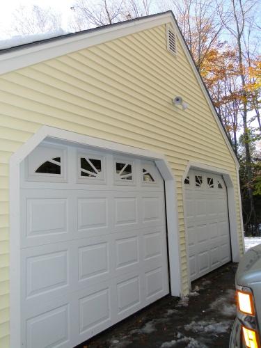 New garage doors and siding