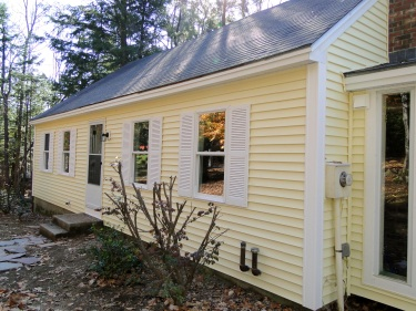 New siding, windows and shutters