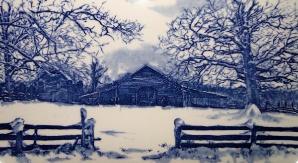 farm barn in winter
