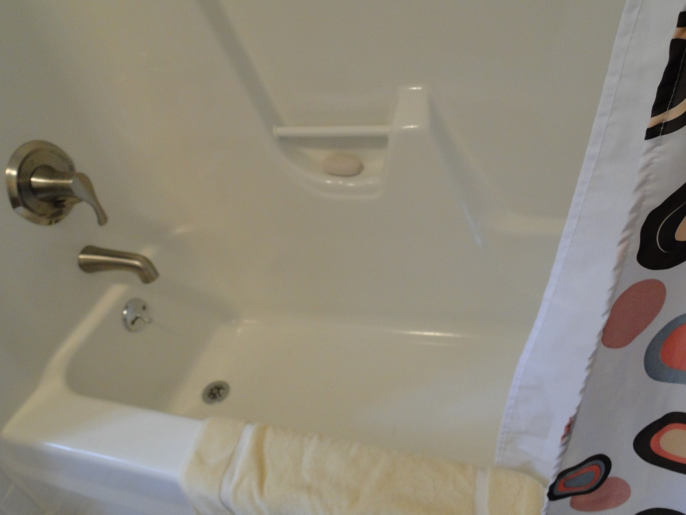 refinished bathtub and shower