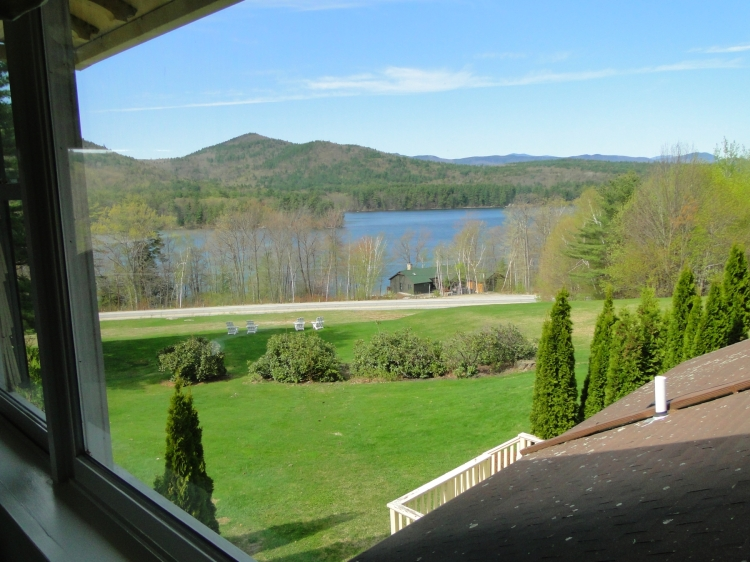 View of Squam Lake from my room