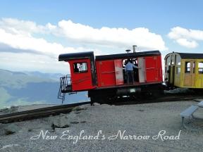Cog Railway train mountaintop
