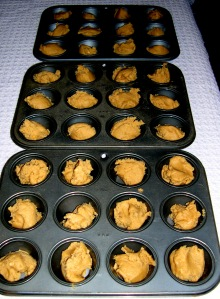pans of cookie dough