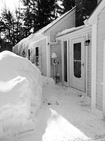 winter snow piles