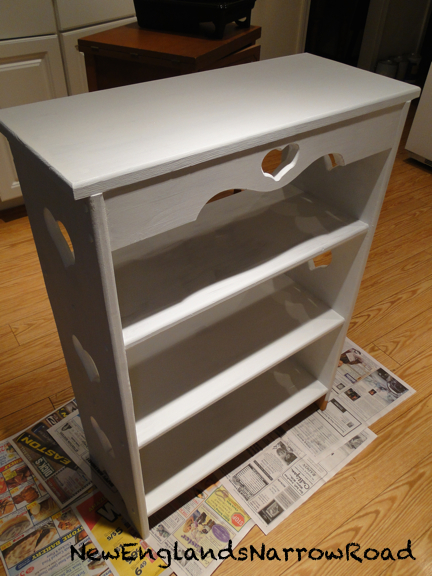 bookshelf bookcase painted white