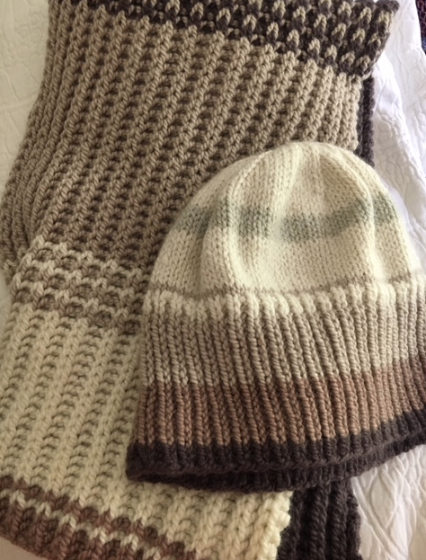 knit hat and scarf