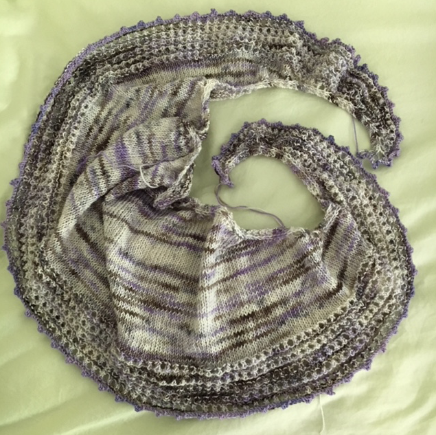 spindrift shawl