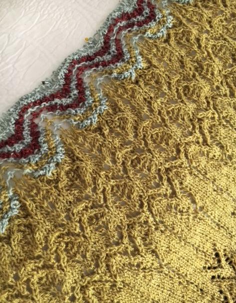shawl knitting clue 3