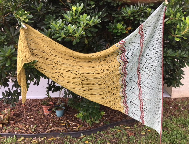 finished shawl mystery knit along