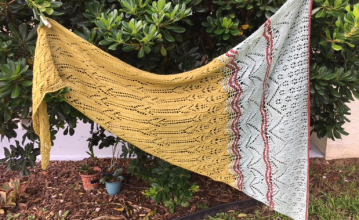 finished shawl mystery knit along