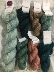 shades of green yarn
