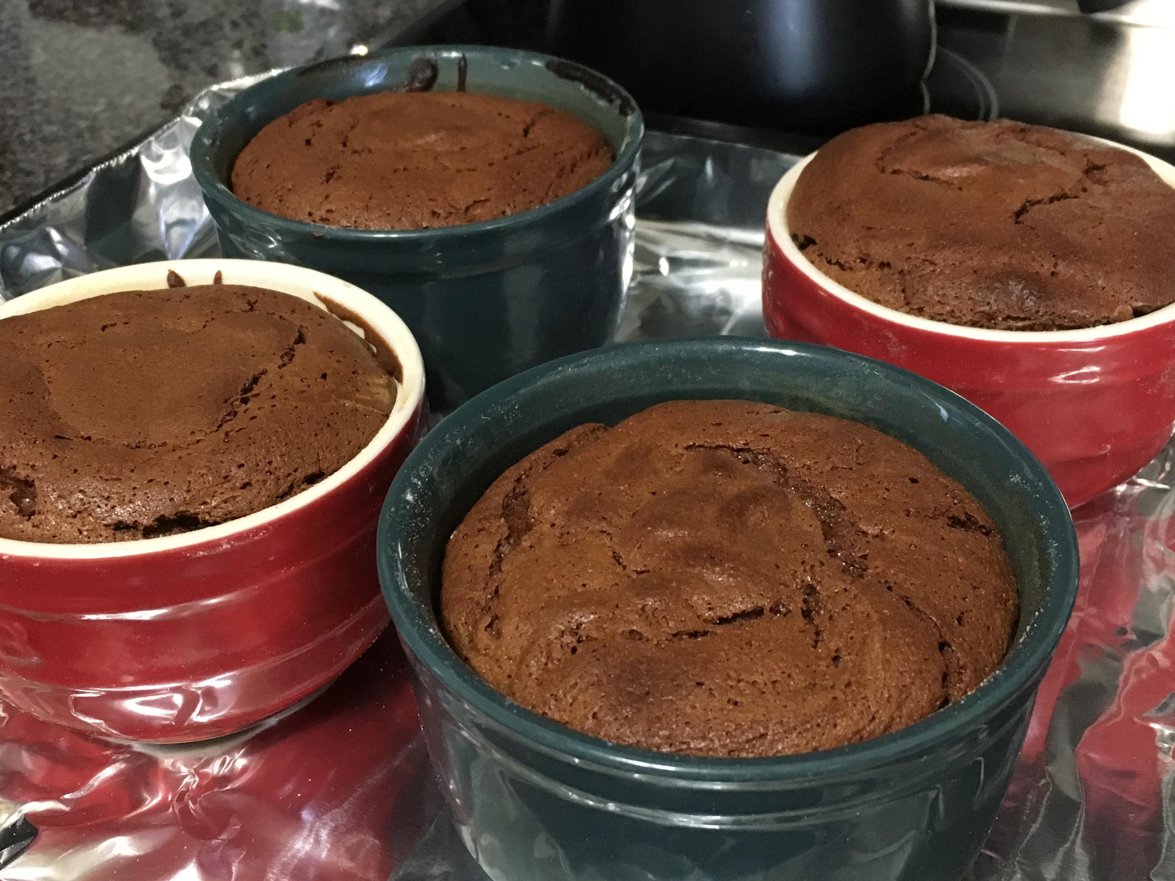 Chocolate molten lava cakes