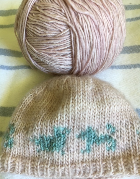 Faded yarn color