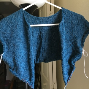 Fine Sand sweater knitting project