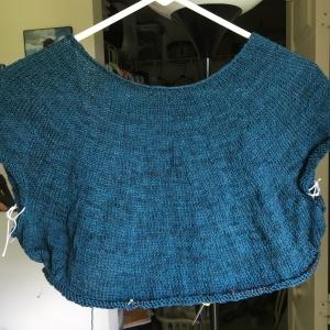 Fine Sand sweater knitting