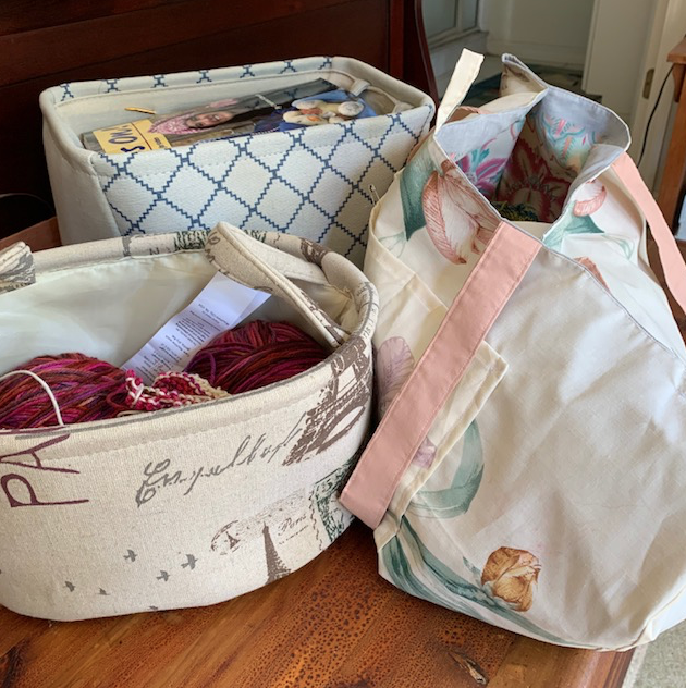 storing and organizing yarn and knitting projects