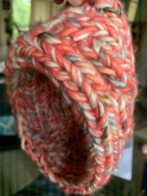 Bulky hand knit headband