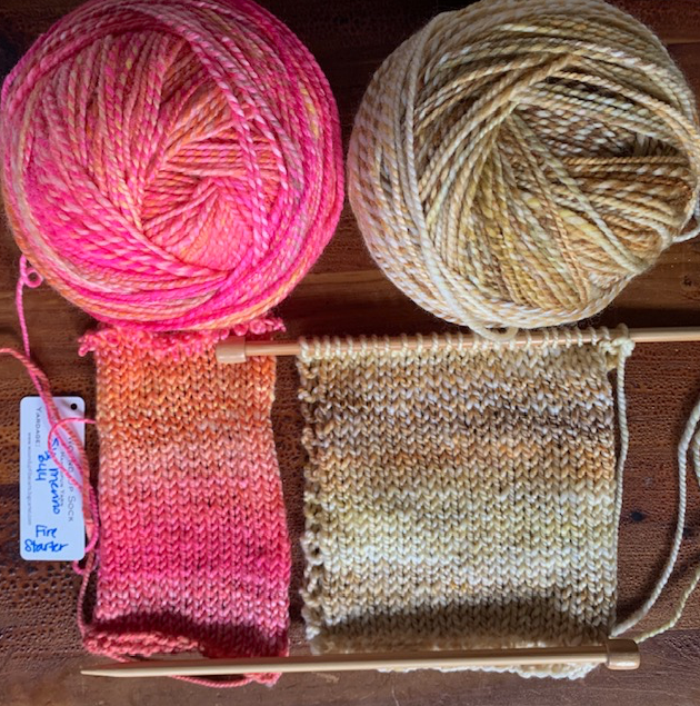 Handspun swatches