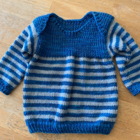Knitting The Polliwog Popover Baby Sweater