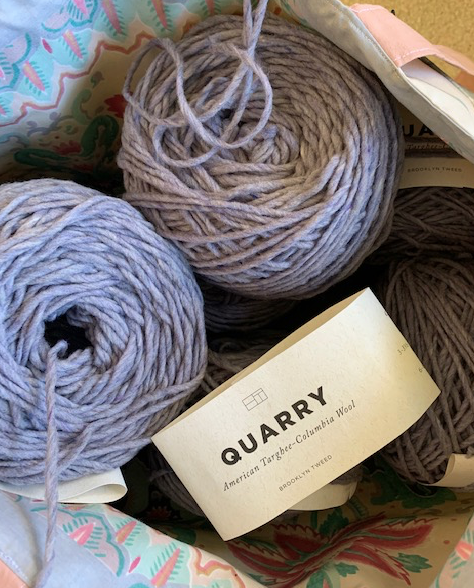 Brooklyn Tweed Quarry yarn in color Geode