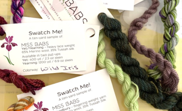 Miss Babs yarn swatch remnants