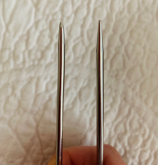 Flexi flip needle tips are blunt or pointed