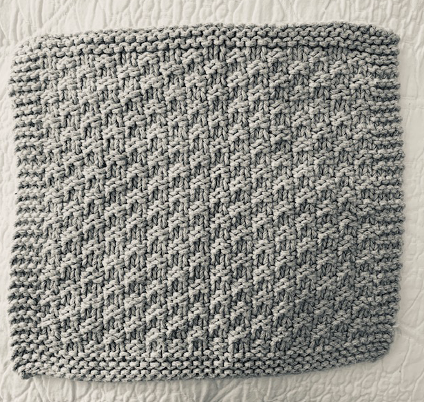 Simple knitting facecloth
