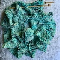 Skinny Ruffle Scarf Free Knitting Pattern
