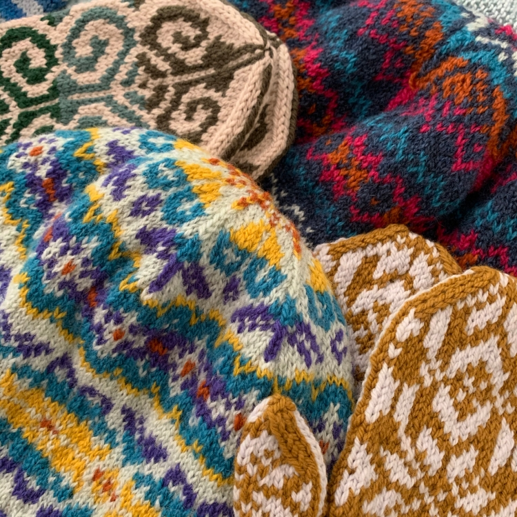 Fair Isle stranded colorwork knitting
