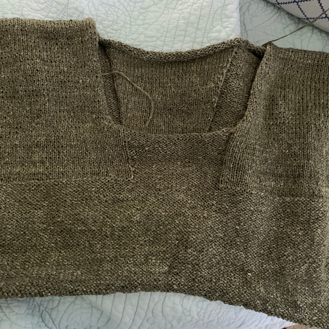 Knitting a top