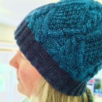 """Knitting The """"Skiff"""" Cable Beanie Pattern"""