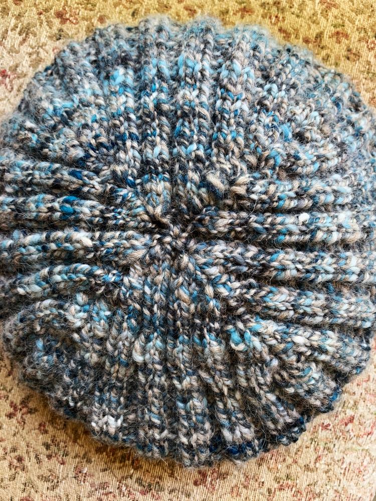 Decreasing a 2x2 rib hat, knitting