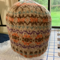 Knitting Katie's Kep Number Two in Earthy Colors