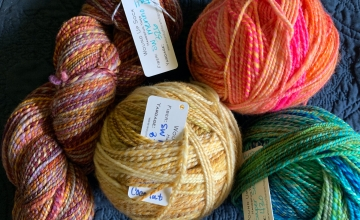 Wound Up Fiber Arts sock yarn hand-spun