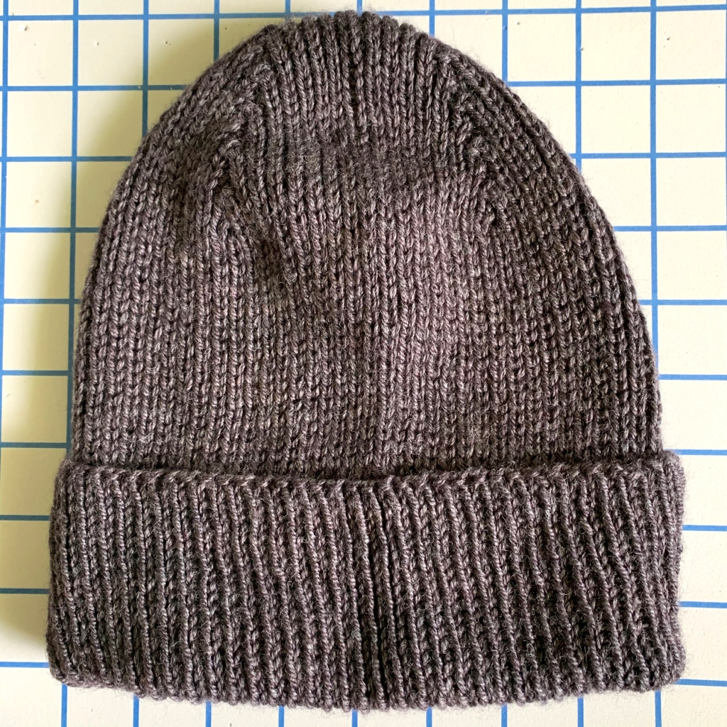 finished watchcap hand knit