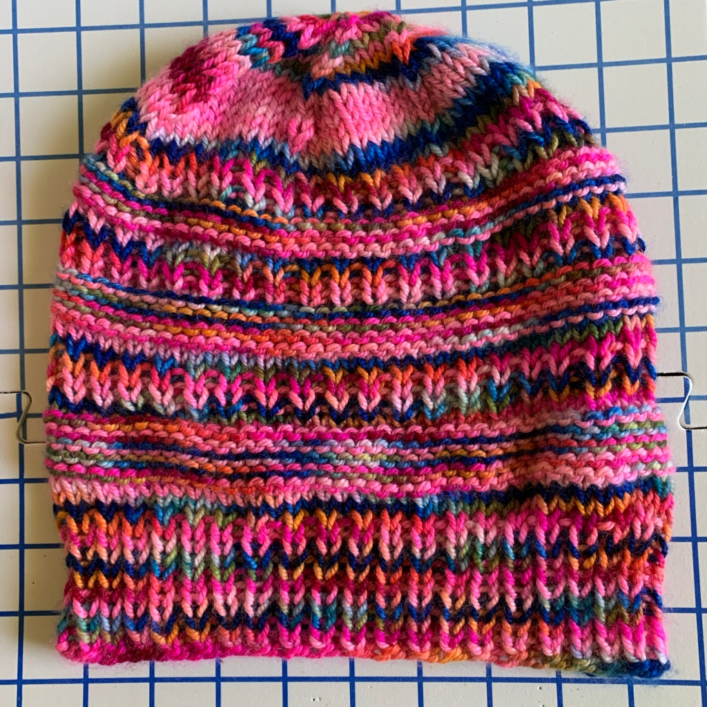Finished knitting the Colorado Chic beanie