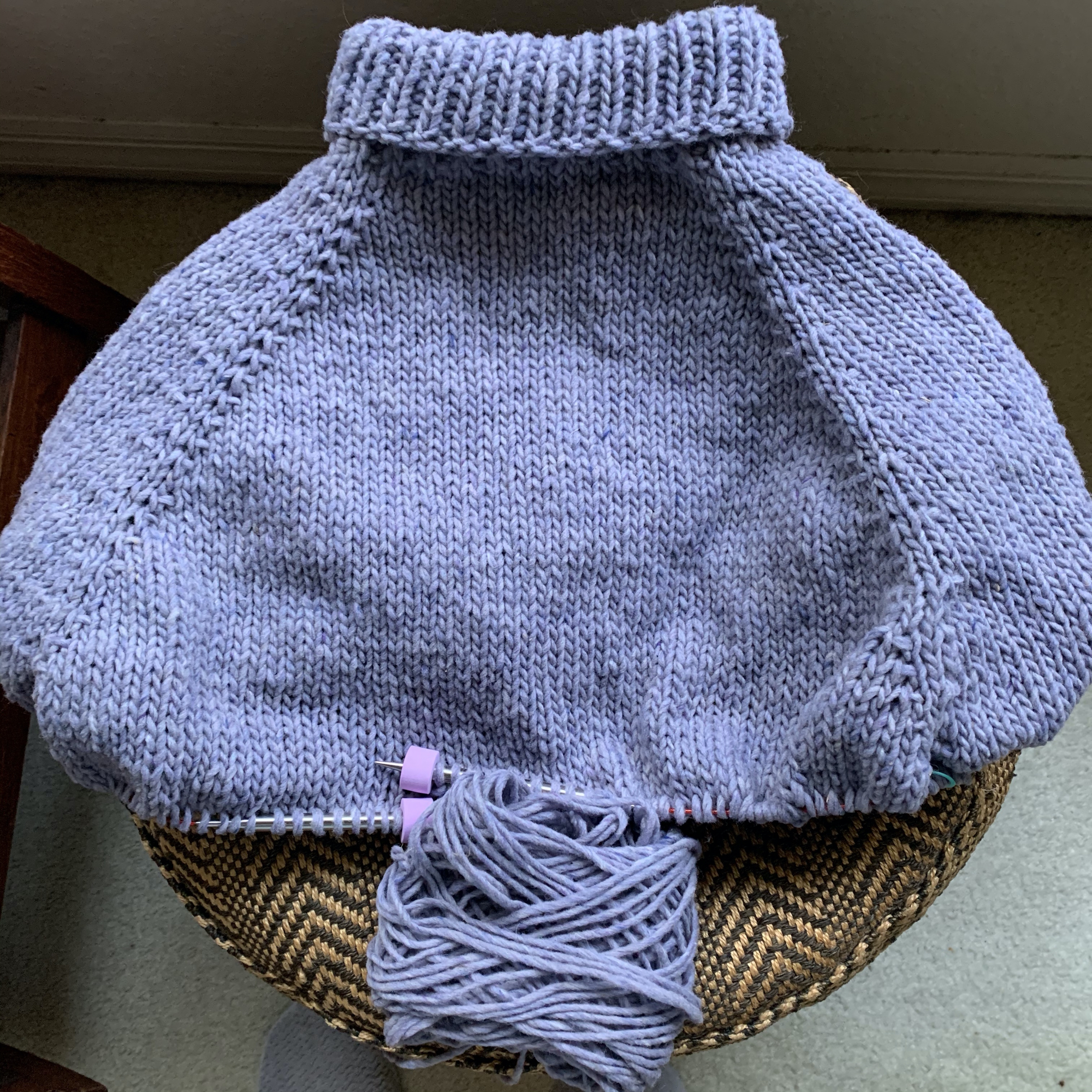Turtle Dove sweater knitting