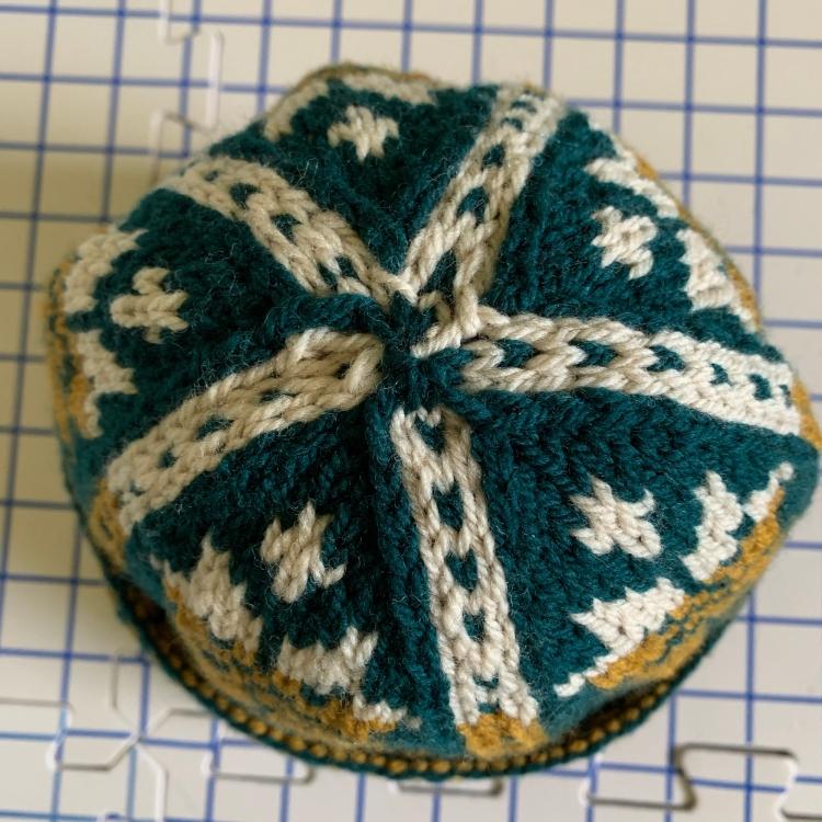 Triple-patterned watchcap crown