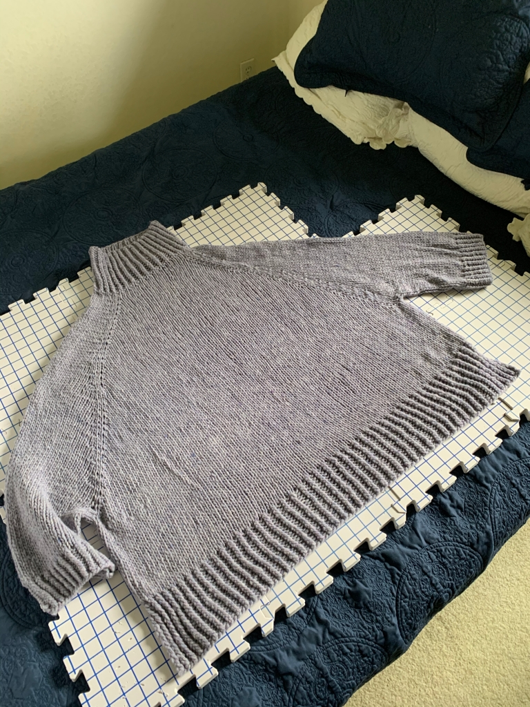 Turtle Dove sweater drying